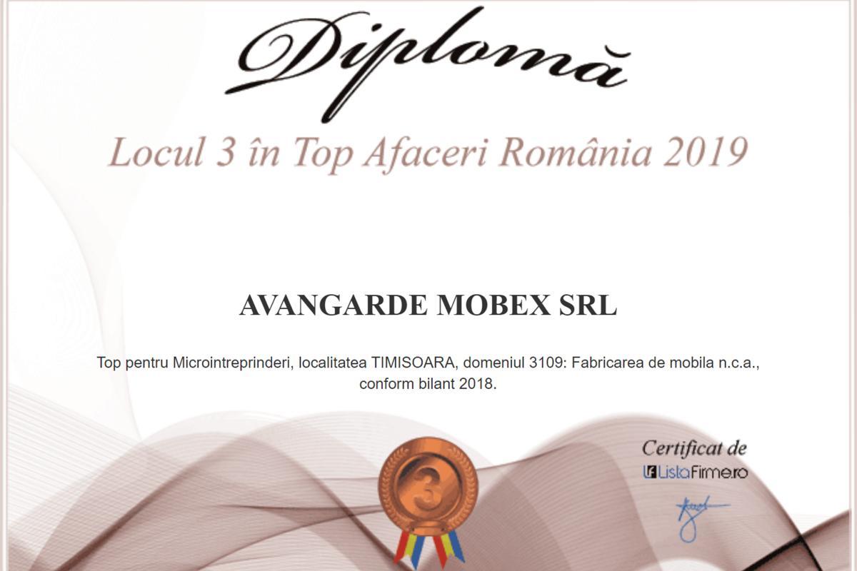 Locul 3 în Top Afaceri Romania Microintreprinderi